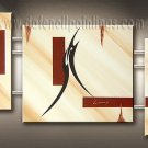Handmade Art deco Modern abstract oil painting on Canvas set 09175