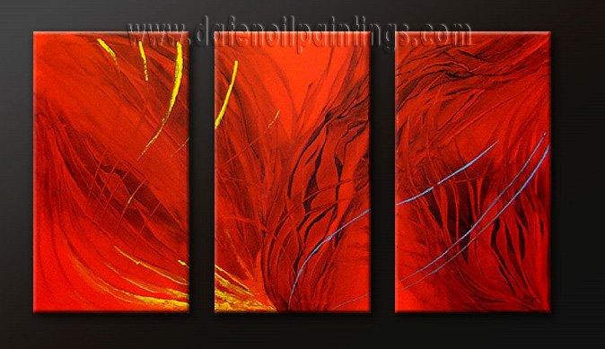 Handmade Art deco Modern abstract oil painting on Canvas set 09178