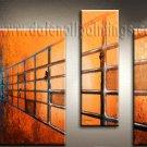 Handmade Art deco Modern abstract oil painting on Canvas set 09187