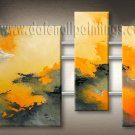 Handmade Art deco Modern abstract oil painting on Canvas set 09188