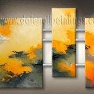 Handmade Art deco Modern abstract oil painting on Canvas set 09188