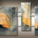 Handmade Art deco Modern abstract oil painting on Canvas set 09189