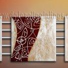 Handmade Art deco Modern abstract oil painting on Canvas set 09192