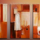 Handmade Art deco Modern abstract oil painting on Canvas set 09193
