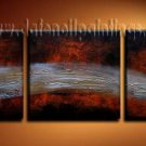 Handmade Art deco Modern abstract oil painting on Canvas set 09203