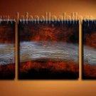 Handmade Art deco Modern abstract oil painting on Canvas set 09203