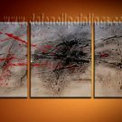 Handmade Art deco Modern abstract oil painting on Canvas set 09206