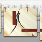 Handmade Art deco Modern abstract oil painting on Canvas set 09216