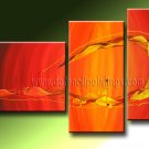 Handmade Art deco Modern abstract oil painting on Canvas set 09220