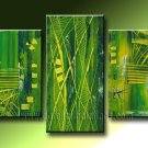 Handmade Art deco Modern abstract oil painting on Canvas set 09223