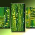 Handmade Art deco Modern abstract oil painting on Canvas set 09223