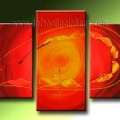 Handmade Art deco Modern abstract oil painting on Canvas set 09226