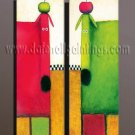 100% handmade Art deco Modern abstract oil paintings on Canvas set10003