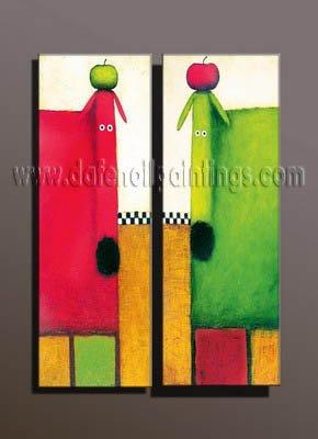 100% handmade Art deco Modern abstract oil paintings on Canvas set10003