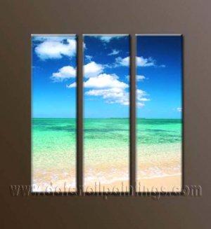 100% handmade Art deco Modern seascape oil paintings on Canvas set10023