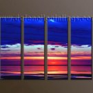 Handmade Art deco Modern seascape oil painting on Canvas set 10037