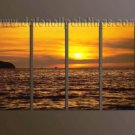 Handmade Art deco Modern setting sun oil painting on Canvas set 10041