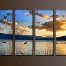 Modern Contemporary oil paintings on Canvas sunrise painting set10073
