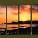 Modern Contemporary oil paintings on Canvas sunrise painting set10084