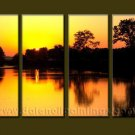 Modern Contemporary oil paintings on Canvas sunrise painting set10088