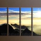 Modern Contemporary oil paintings on Canvas sunrise painting set10108