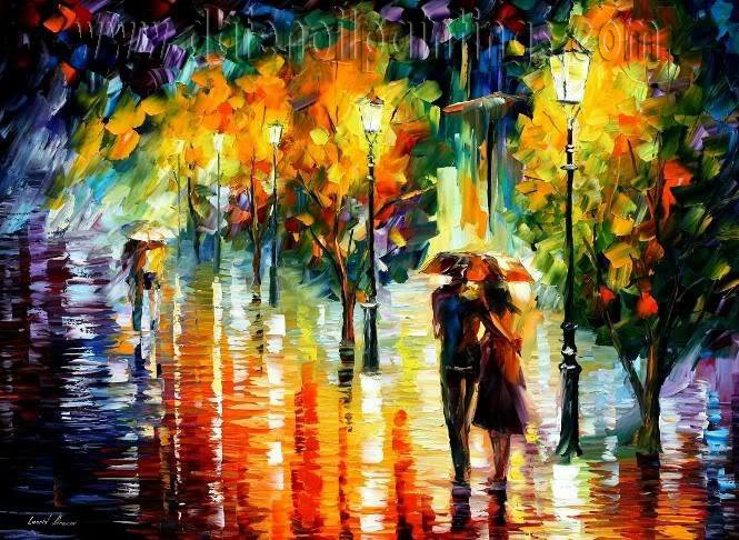 Modern impressionism palette knife oil painting on canvas kp002