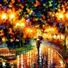 Modern impressionism palette knife oil painting on canvas kp005