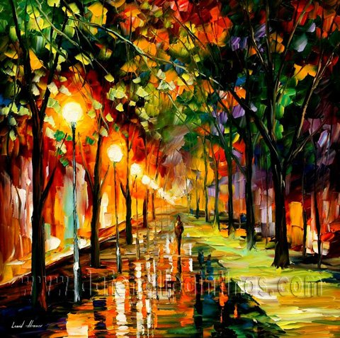 Modern impressionism palette knife oil painting on canvas kp006