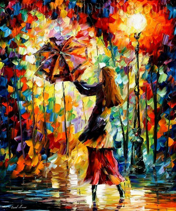 Modern impressionism palette knife oil painting on canvas kp012