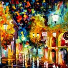 Modern impressionism palette knife oil painting on canvas kp018