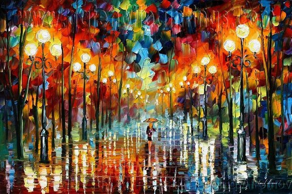 Modern impressionism palette knife oil painting on canvas kp020