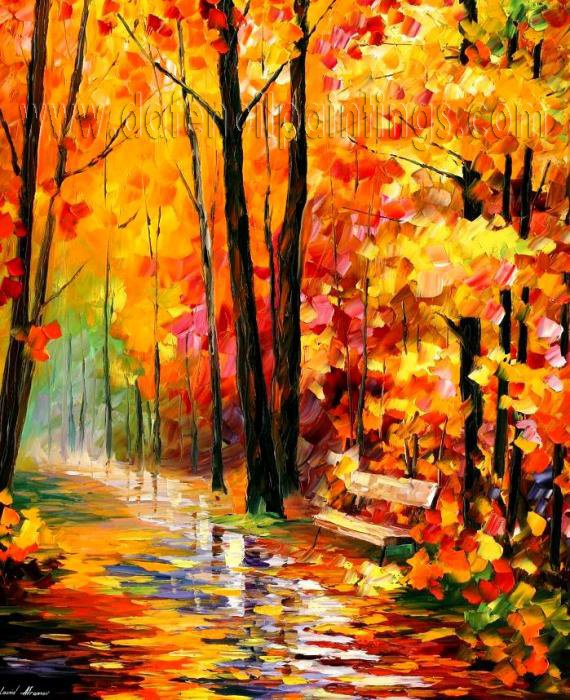 Modern impressionism palette knife oil painting on canvas kp026