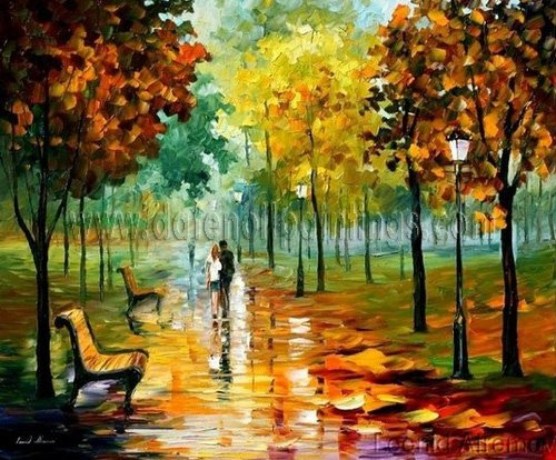 Modern impressionism palette knife oil painting on canvas kp027