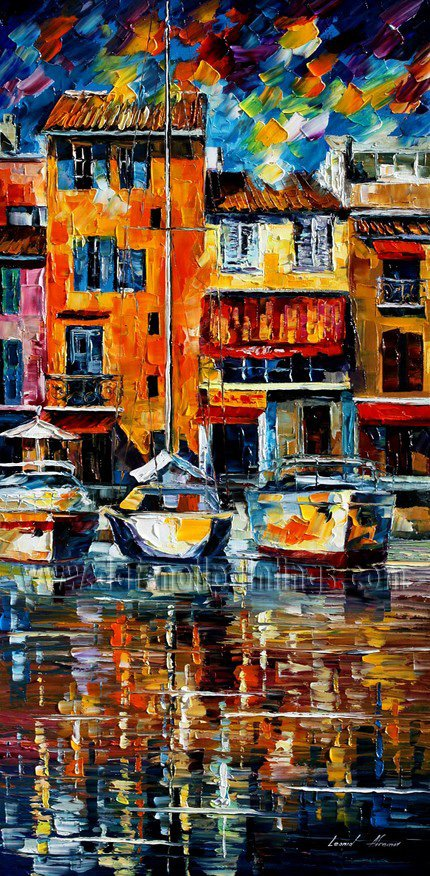 Modern impressionism palette knife oil painting on canvas kp031