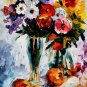 Modern impressionism palette knife oil painting on canvas kp034