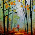 Modern impressionism palette knife oil painting on canvas kp036
