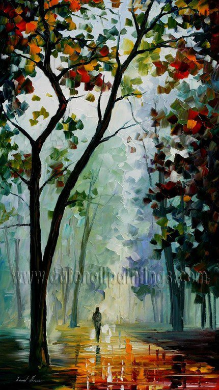 Modern impressionism palette knife oil painting on canvas kp037