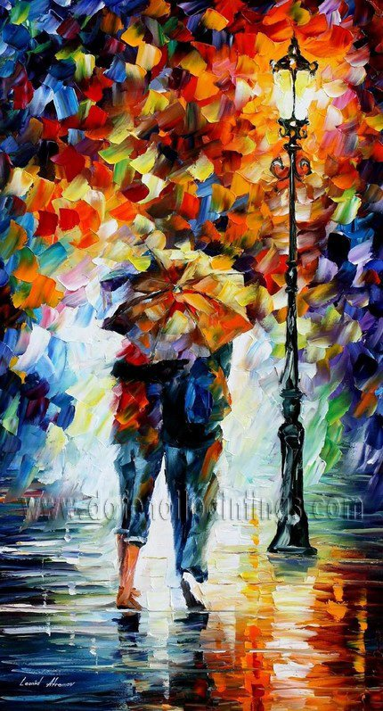 Modern impressionism palette knife oil painting on canvas kp039