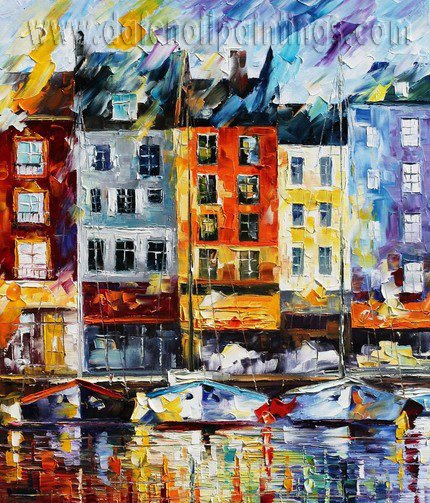 Modern impressionism palette knife oil painting on canvas kp040