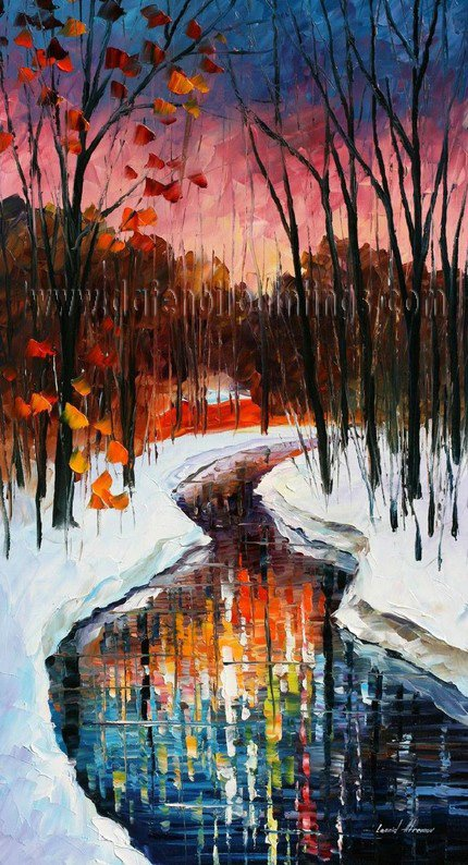 Modern impressionism palette knife oil painting on canvas kp045