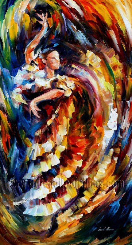 Modern impressionism palette knife oil painting on canvas kp048