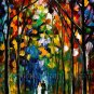 Modern impressionism palette knife oil painting on canvas kp053