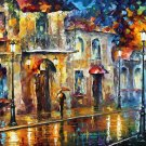 Modern impressionism palette knife oil painting on canvas kp064