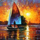 Modern impressionism palette knife oil painting on canvas kp072