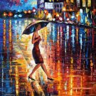 Modern impressionism palette knife oil painting on canvas kp074