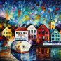 Modern impressionism palette knife oil painting on canvas kp076