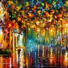 Modern impressionism palette knife oil painting on canvas kp077