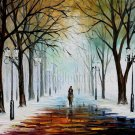 Modern impressionism palette knife oil painting on canvas kp080