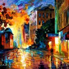 Modern impressionism palette knife oil painting on canvas kp083