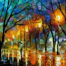 Modern impressionism palette knife oil painting on canvas kp084